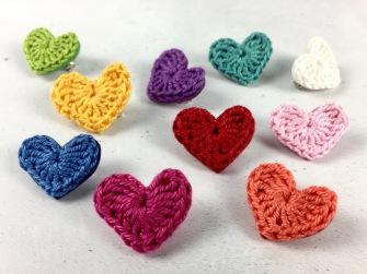 10 Mollycat wedding favours. Crochet brooch