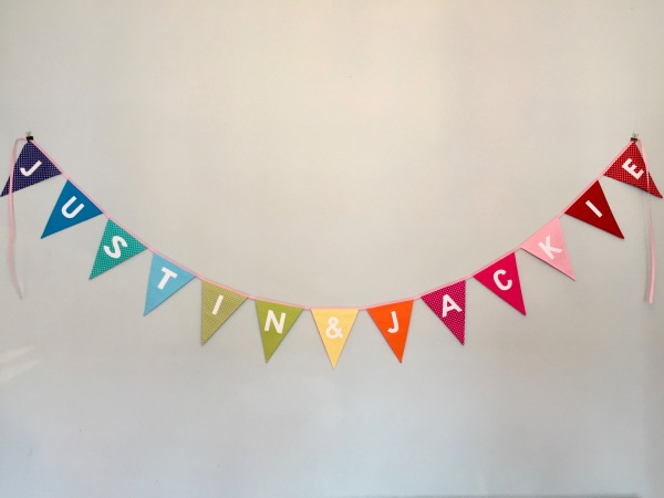 7 Mollycat personalised bunting
